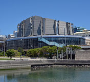 Vertical Panoramic view of Wellington Town Hall Building. Stock Photo