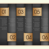 Vertical paper numbered banners Royalty Free Stock Photo