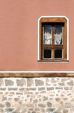 Vertical part of the facade of the old building in Plovdiv Royalty Free Stock Photos