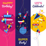 Vertical Party Banners Stock Images