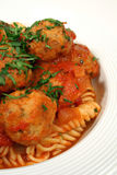 Vertical Of Pasta And Chicken Meat Balls Royalty Free Stock Photo