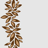 Vertical pattern frame with brown petals. White background Stock Photos