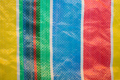 Vertical pattern. Front of Colorful From Plastic bag. For texture background royalty free stock photo