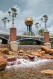 Vertical Water Feature Sunsphere Knoxville Tennessee Stock Photography