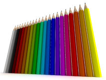 Vertical pencil background Stock Photos