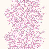 Vertical peony pattern. Vertical seamless floral texture, vector illustration. Layers are managed and arranged for easy editing Stock Photography