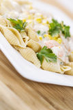 Fresh Pasta with healthy ingredients Stock Images