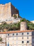 Vertical photo of Bonifacio, Corsica island Stock Photo