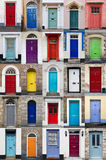 Vertical Photo Collage Of 25 Front Doors Royalty Free Stock Images