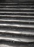 Vertical photo of dark stone stairway Stock Photos