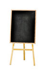 Vertical photo of menu black board Isolated on white background, Stock Image