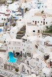 Vertical photo of Santorini buildings Royalty Free Stock Photography
