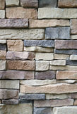 Vertical Photo of Stone Blocks Wall Made from Irregular Sized Stone Blocks, for Abstract Background Royalty Free Stock Photography
