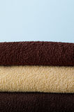 Vertical photo of towels Royalty Free Stock Image