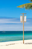 Vertical photo of tropical beach Stock Images