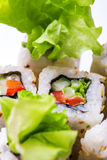 Vertical photo of vegitable roll Royalty Free Stock Photos
