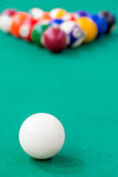 Vertical picture balls on the table Royalty Free Stock Photography