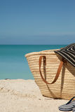 Vertical picture of beach bag Stock Images