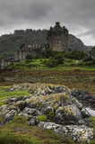 Vertical of the picturesque Scottish Castle of Eilean Donan Royalty Free Stock Photos