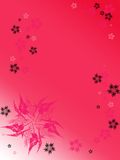 Vertical pink background with. Computer generated illustration of vertical pink background with color flowers Royalty Free Stock Image