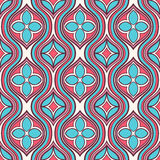 Vertical pink and turquoise floral pattern Stock Photo
