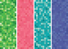 Vertical Pixel Banners Royalty Free Stock Images