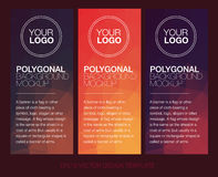 Vertical polygonal banners Royalty Free Stock Photography