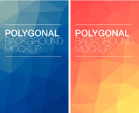 Vertical polygonal banners Stock Photo
