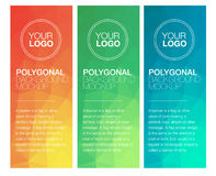Vertical polygonal banners Stock Image