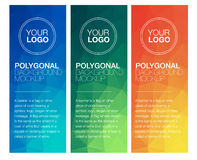 Vertical polygonal banners Royalty Free Stock Photo