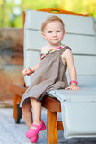 Vertical portrait of adorable toddler Stock Photography