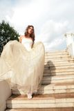 Vertical portrait of the bride Royalty Free Stock Images