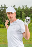 Vertical portrait of golfer Stock Image