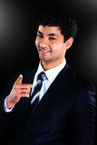 Vertical portrait of a happy  young businessman Stock Image
