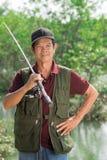 Skillful fisherman Royalty Free Stock Photo