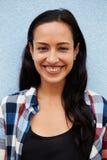 Vertical portrait of smiling Hispanic woman Royalty Free Stock Image