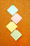 Vertical post-it column Royalty Free Stock Photography