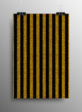 Vertical Poster Parallel Gold Sequins Lines. Royalty Free Stock Image