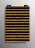 Vertical Poster Parallel Gold Sequins Lines. Stock Image