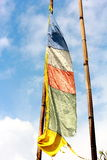 Vertical prayer flag Stock Photography