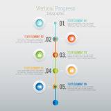 Vertical Progress Infographic Royalty Free Stock Image