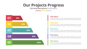 Vertical progress by percentage bar with 5 point step - vector illustration vector illustration