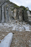 Vertical Purbeck Limestone Beds Stock Image
