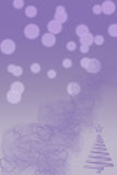 Vertical purple digital background with christmas Stock Images