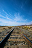 Vertical Railroad Tracks in the Desert Royalty Free Stock Photo