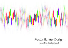Vertical rainbow lines banner Stock Photos