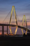Vertical Ravenel Bridge Spring 2015 Charleston SC Stock Photography