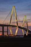 Vertical Ravenel Bridge Spring 2015 Charleston SC Stock Photography