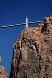 Vertical real da ponte do desfiladeiro Fotos de Stock