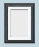 Vertical rectangular black frame a4 Stock Image